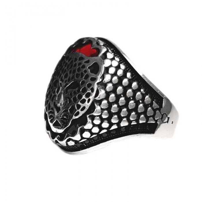 Inel argint 925 cu jaguar si zirconiu 1