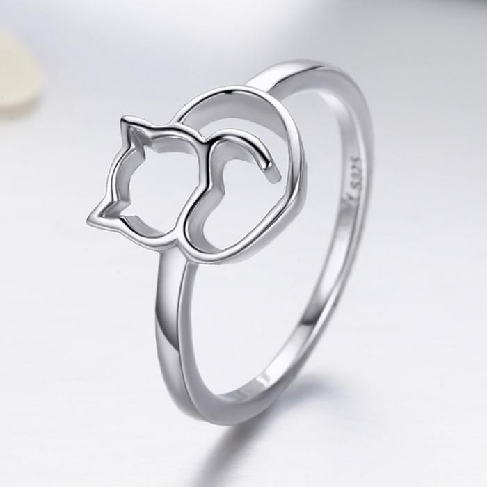 Inel argint 925 cu pisicuta - Be Nature IST0029 3