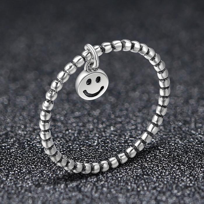 Inel argint 925 cu talisman fata zambitoare Smiley Face - Be Authentic IST0034 1