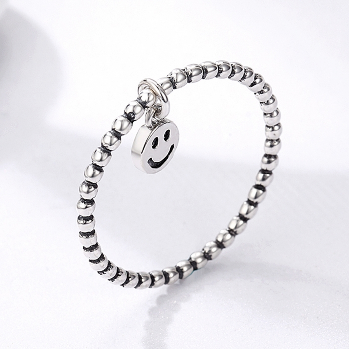 Inel argint 925 cu talisman fata zambitoare Smiley Face - Be Authentic IST0034 2