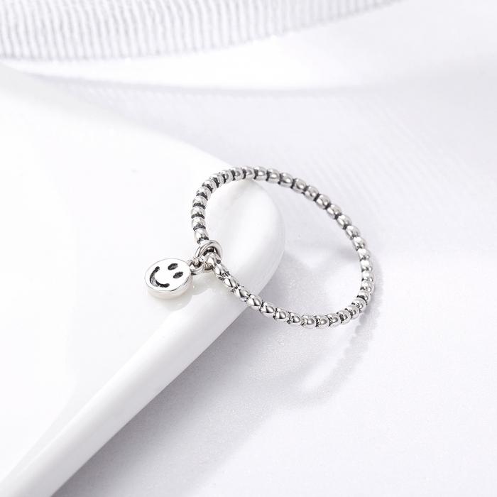 Inel argint 925 cu talisman fata zambitoare Smiley Face - Be Authentic IST0034 3