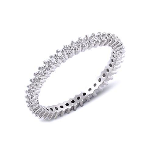 Inel argint 925 cu zirconii albe [0]