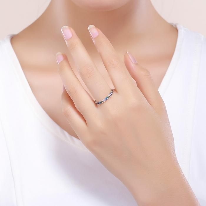 Inel argint 925 cu zirconii multicolore de jur imprejur - Be Elegant IST0057 [4]