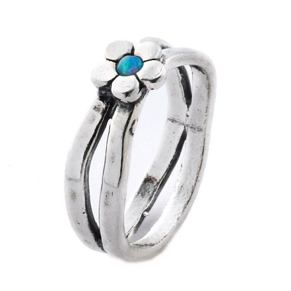 Inel argint 925 Israel floare cu opal imperial [0]