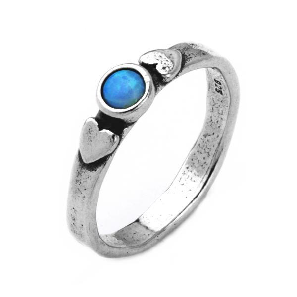 Inel argint 925 Israel inimioare cu opal imperial [0]