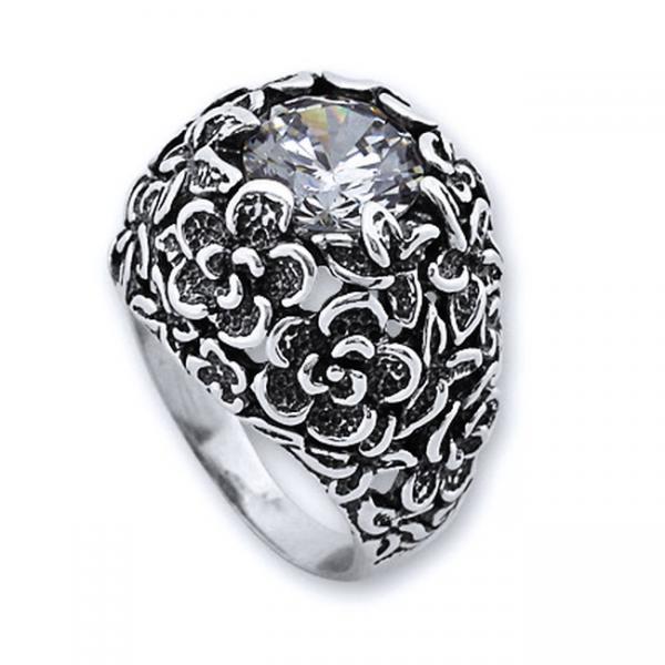 Inel argint 925 lucrat manual buchet de flori [0]
