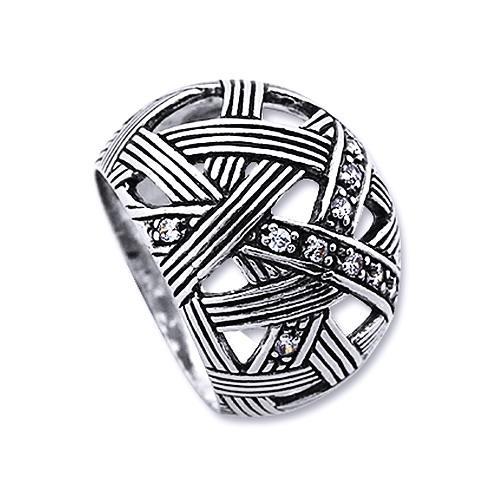 Inel argint 925 lucrat manual cu zirconii 0