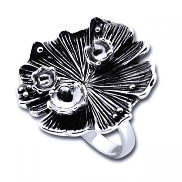 Inel argint 925 lucrat manual in forma de floare [0]