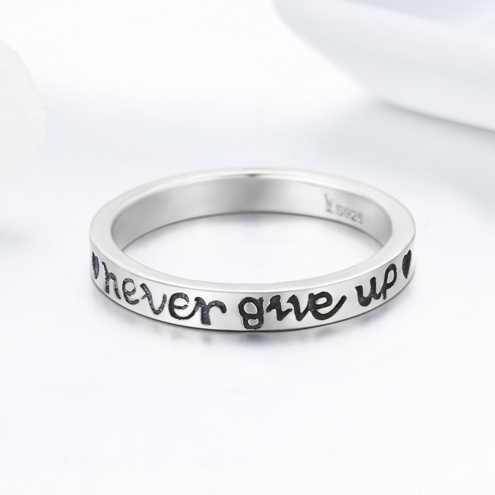 Inel argint 925 Never Give Up - Nu renunta niciodata - Be Authentic IST0035 5
