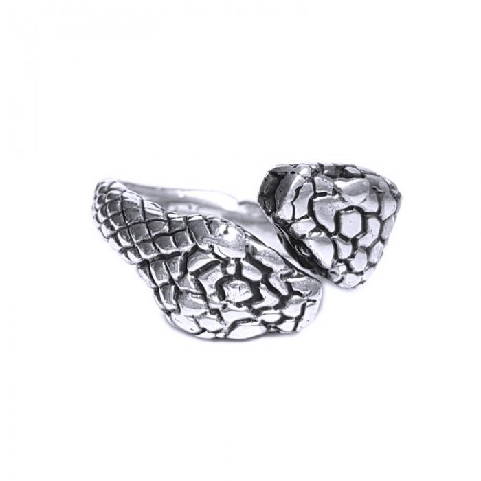Inel argint 925 reglabil, cu serpi 1