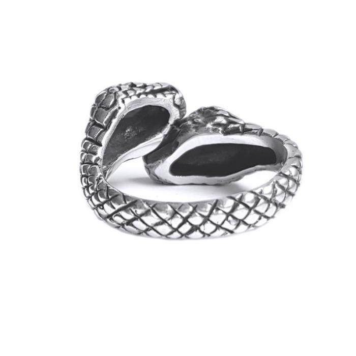 Inel argint 925 reglabil, cu serpi 2