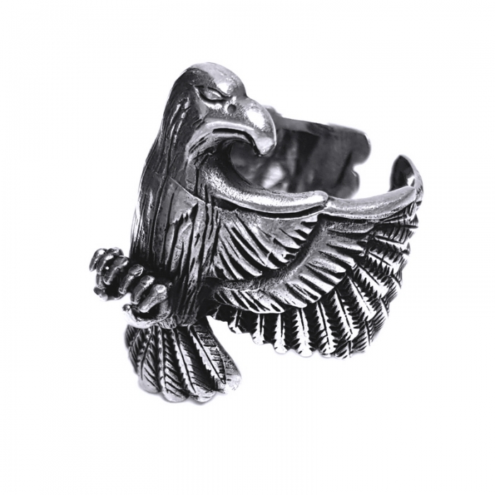Inel argint 925 reglabil, cu vultur 1