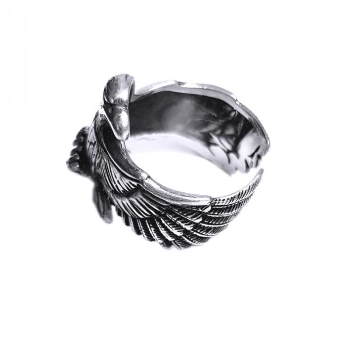 Inel argint 925 reglabil, cu vultur 2