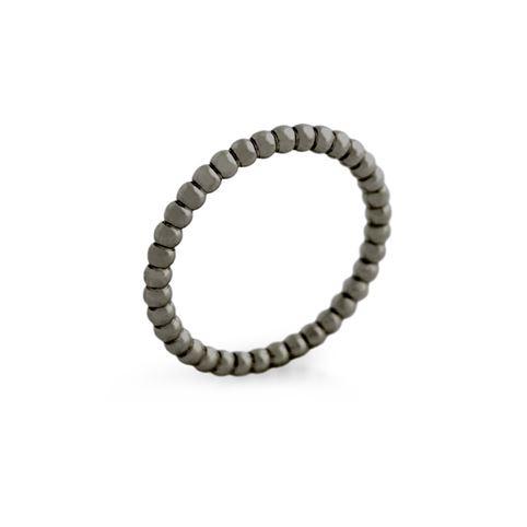 Inel negru subtire din argint 925 0
