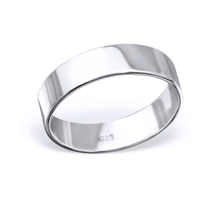 Inel argint 925 rodiat lat model verigheta toate marimile 0