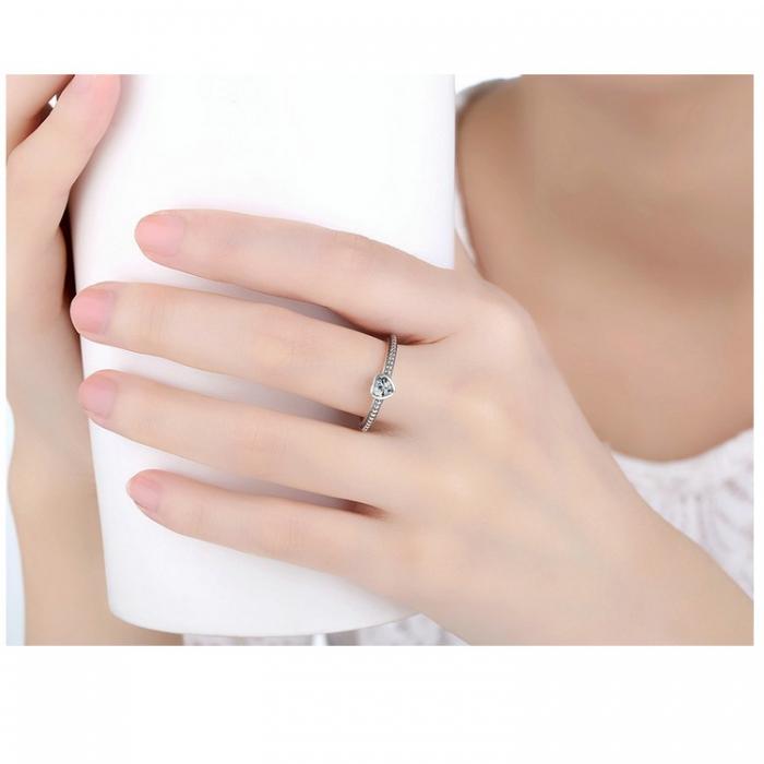 Inel argint 935 cu inimioara alba - Be in Love IST0009 1