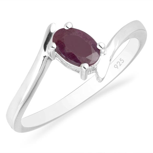 Inel argint Aurora, 925, cu rubin - IVA0036 0