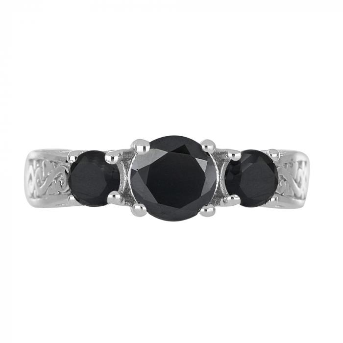 Inel argint cu 3 pietre de Onix - IVA0110 [2]