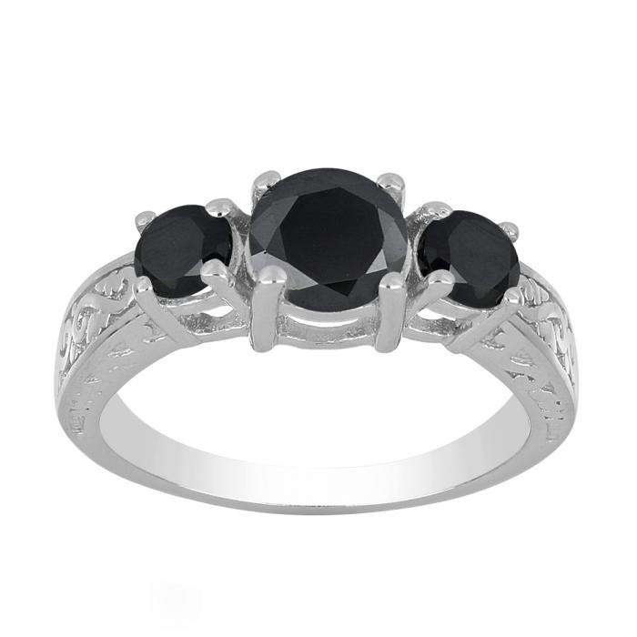 Inel argint cu 3 pietre de Onix - IVA0110 [1]
