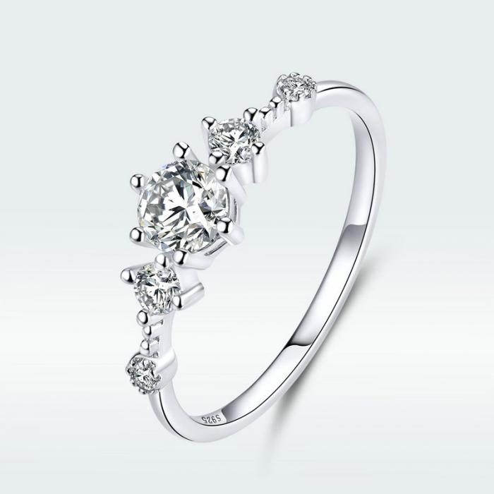 Inel argint cu 5 zirconii [7]