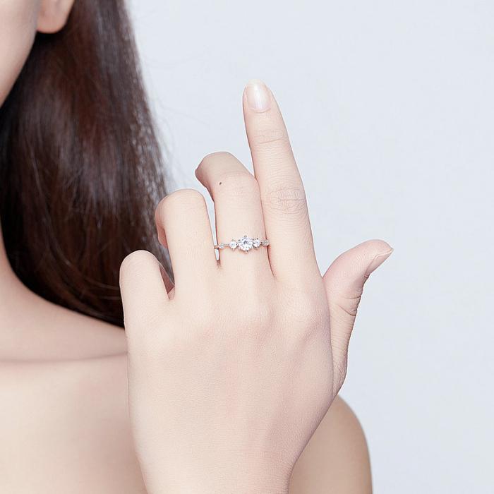 Inel argint cu 5 zirconii [3]