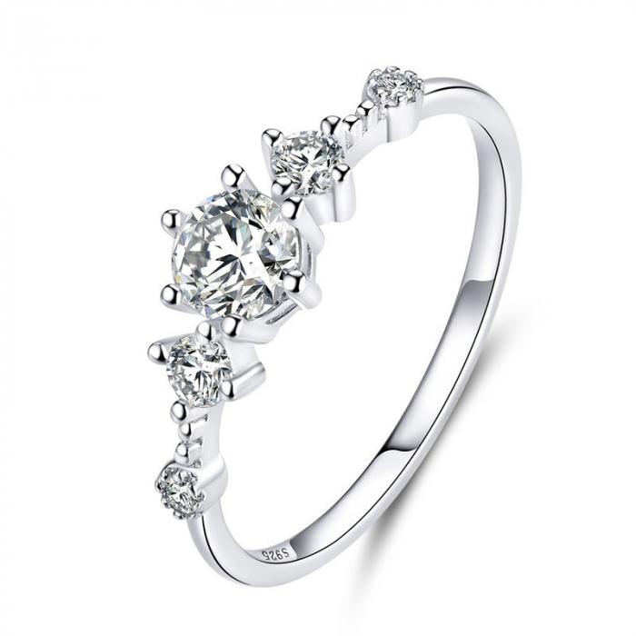 Inel argint cu 5 zirconii [0]