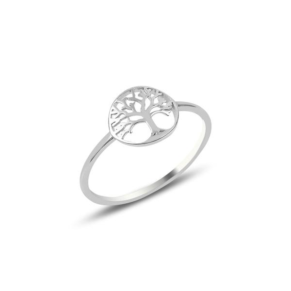 Inel argint cu copacul vietii placat cu rodiu - ITU0236 0