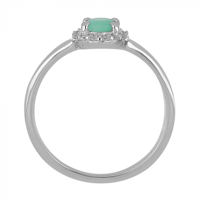 Inel argint cu Emerald si cristale de zirconiu alb - IVA0118 [3]