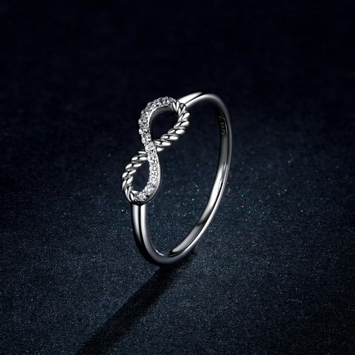 Inel argint cu infinit si zirconii 5