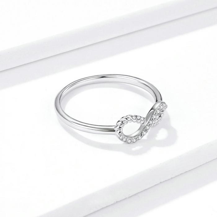Inel argint cu infinit si zirconii 1