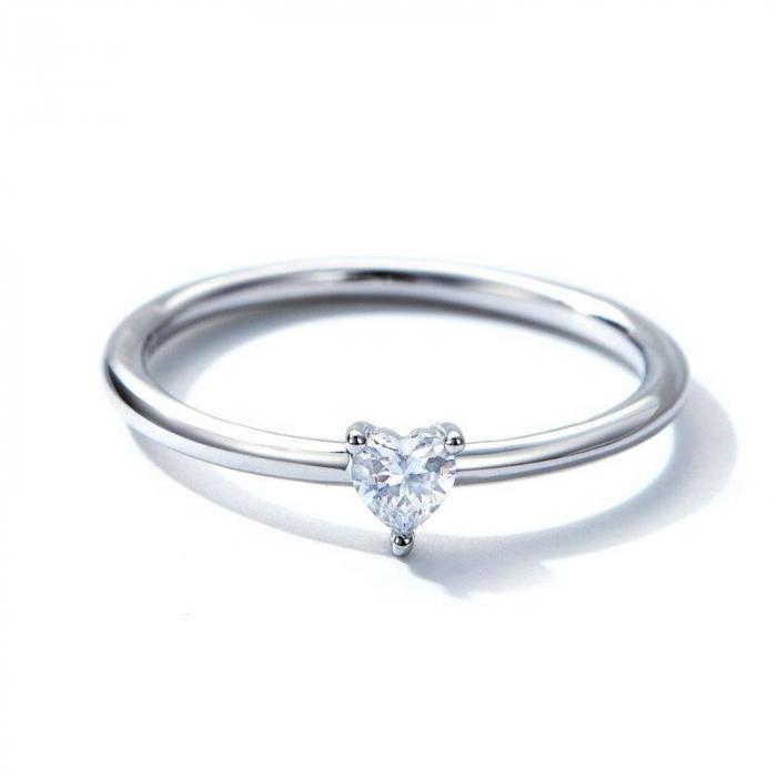 Inel argint cu inimioara de zirconiu 2