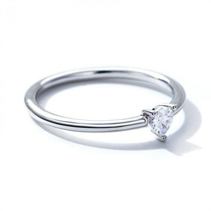 Inel argint cu inimioara de zirconiu 1