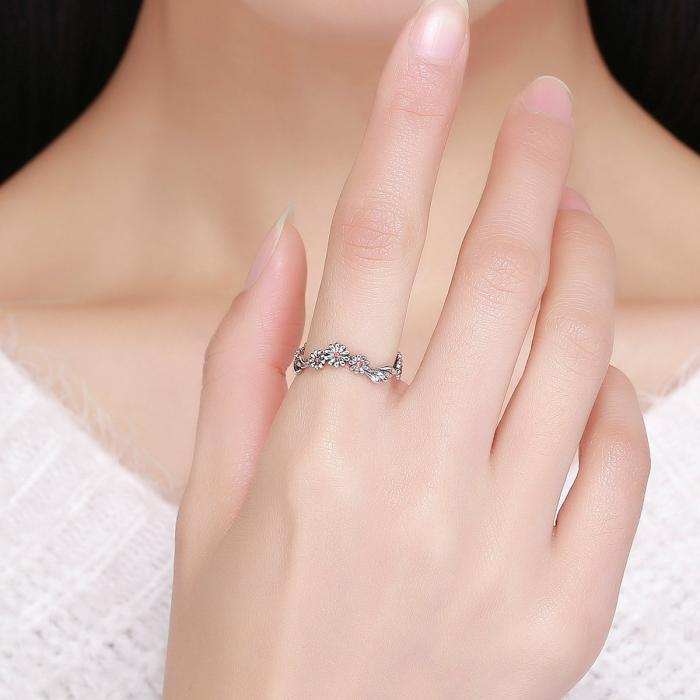 Inel argint cu margarete 5