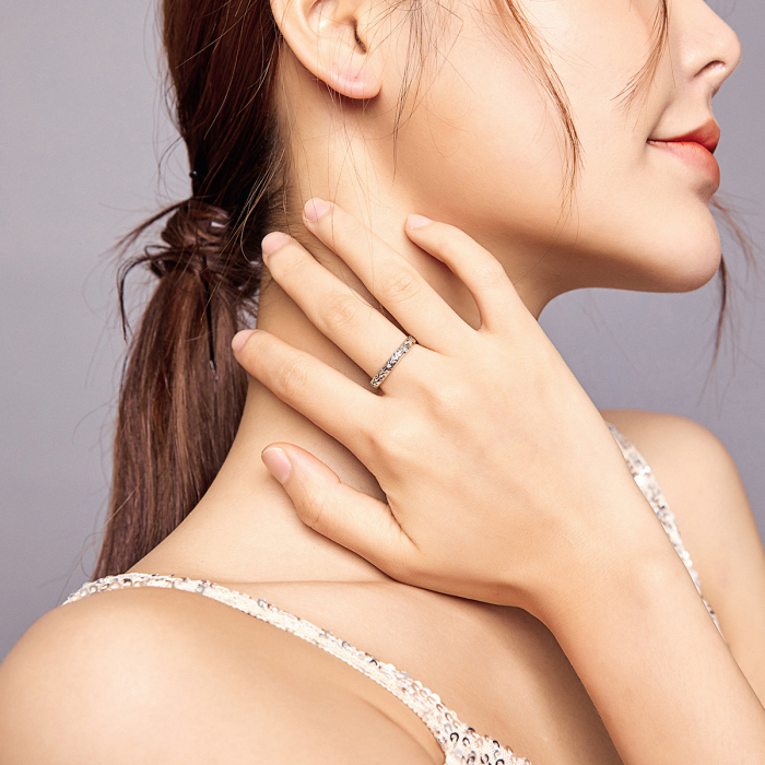 Inel argint cu model floral si zirconii [7]