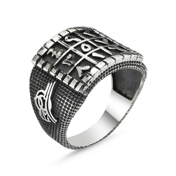 Inel argint cu Numerologie Abjad si semnatura Otomana 0