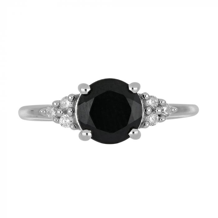 Inel argint cu onix si 6 cristale de zirconiu alb - IVA0080 [4]