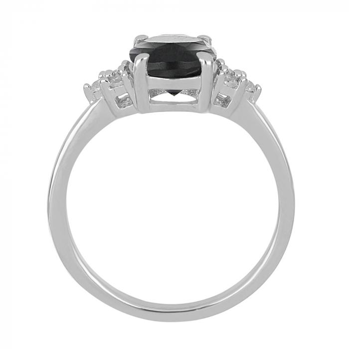 Inel argint cu onix si 6 cristale de zirconiu alb - IVA0080 [1]