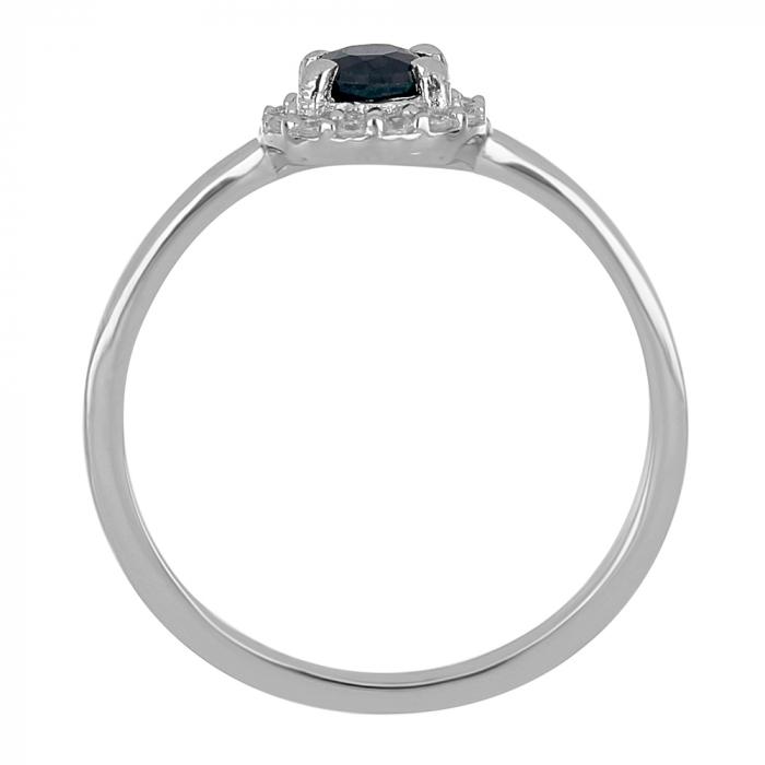 Inel argint cu Safir Albastru si cristale de zirconiu alb - IVA0117 [3]
