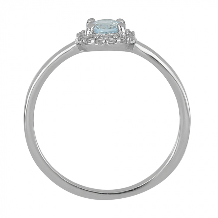Inel argint cu Topaz Albastru Londra si cristale de zirconiu alb - IVA0119 [4]