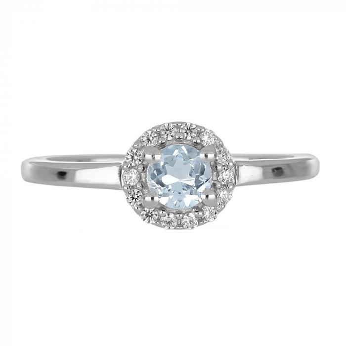 Inel argint cu topaz si cristale de zirconiu alb - IVA0121 2