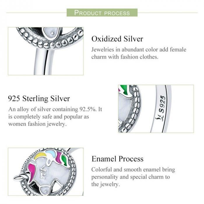 Inel argint cu Unicorn 3