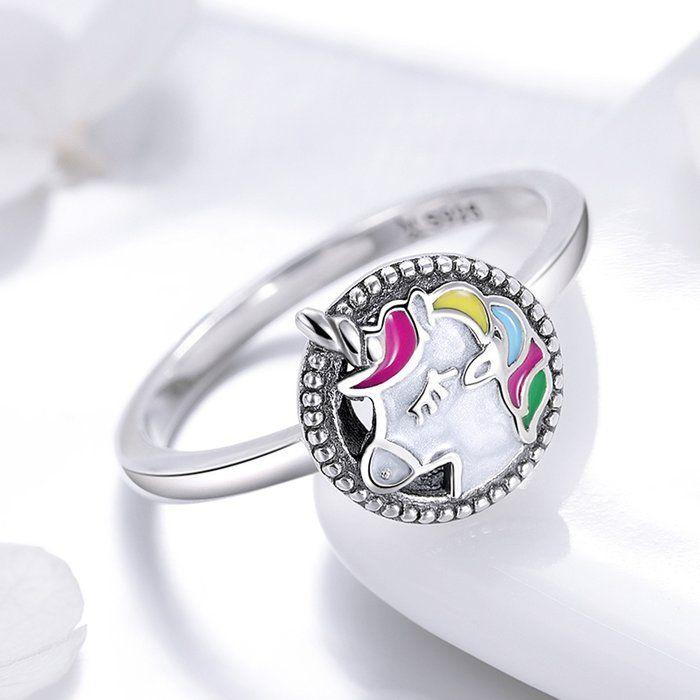 Inel argint cu Unicorn 1