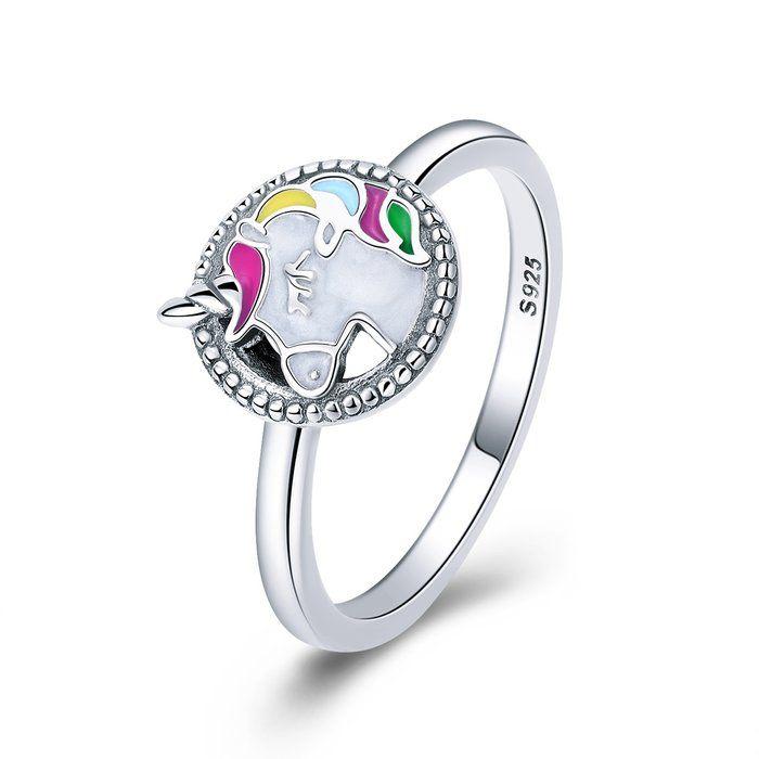 Inel argint cu Unicorn 0