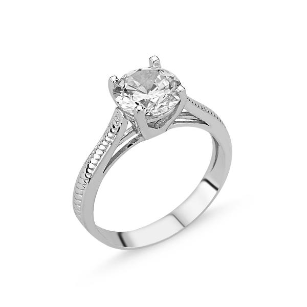 Inel argint cu Zirconiu Alb - Solitaire 0
