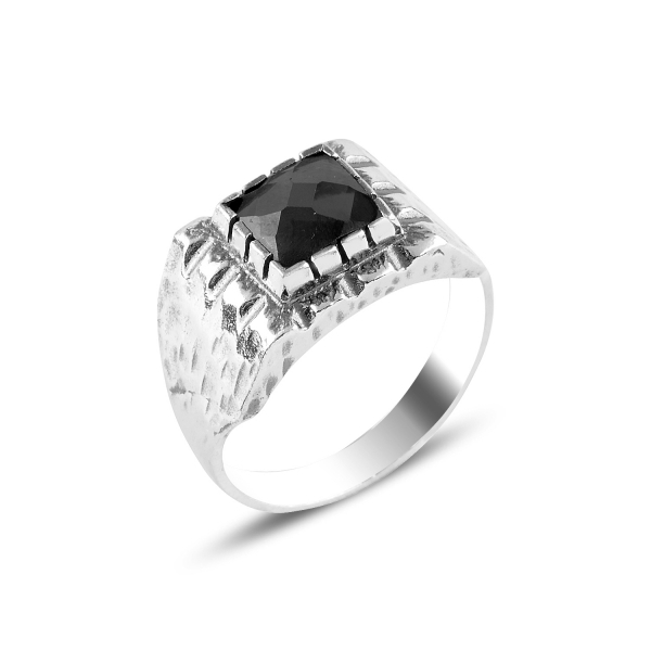 Inel argint cu zirconiu negru [0]