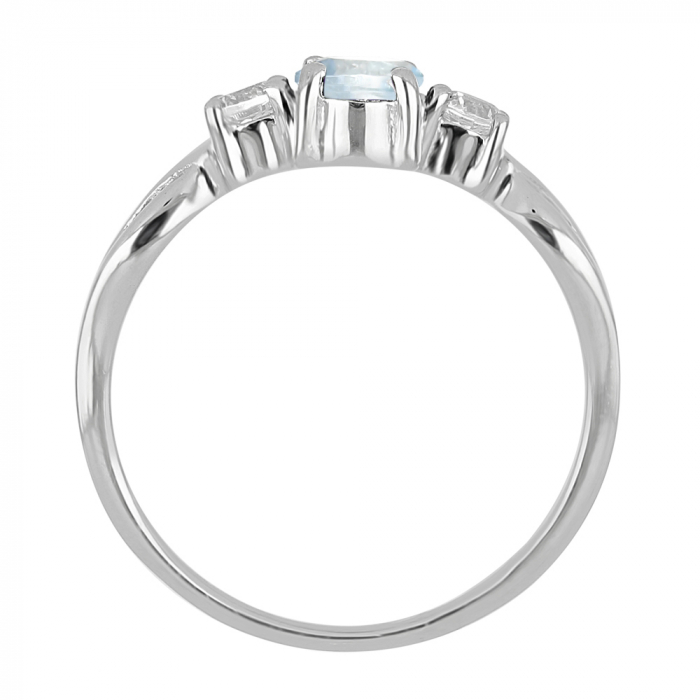Inel argint elegant cu topaz si zirconiu alb - IVA0090 1