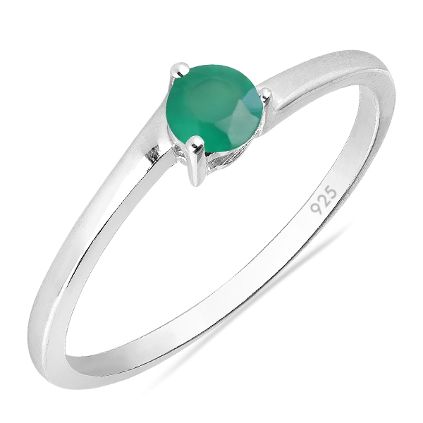 Inel argint Elinor, 925, cu agat verde - IVA0026 0