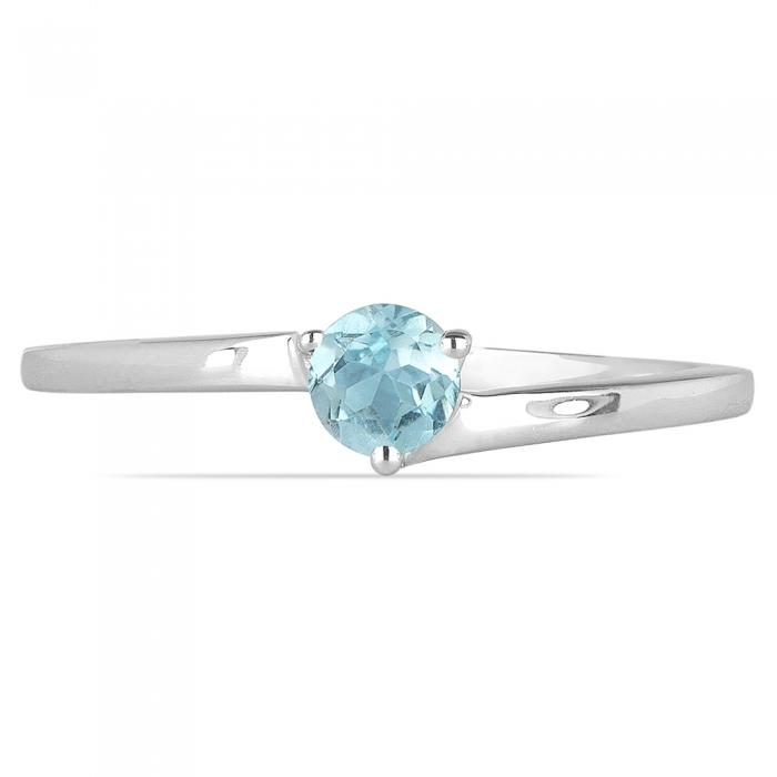 Inel argint Elinor, 925, cu topaz albastru - IVA0025 0