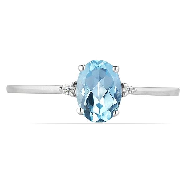 Inel argint Elisabeta, 925, cu topaz cer albastru si zirconiu alb - IVA0049 [1]