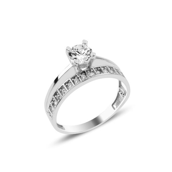 Inel argint Eternity & Solitaire cu zirconii [0]